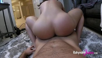 Dirty cheap slut Penny Flame gets her hairy pussy pushed by hard dick