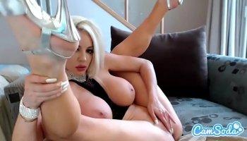 Hot mature blonde Samantha Saint loves to suck big cocks