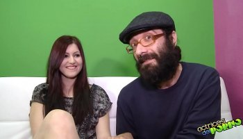 Cute plump for the first time on porn casting