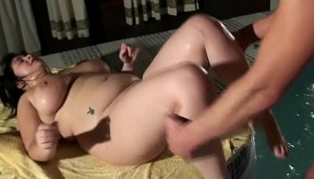 gracie has fun with two cocks